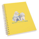 Clear 7 x 10 Spiral Journal Notebook-Help is a Four Legged Word