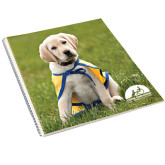 College Spiral Notebook w/Clear Coil-Gold Puppy