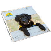 College Spiral Notebook w/Clear Coil-Dog on Fence