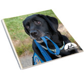 College Spiral Notebook w/Clear Coil-Dog with Leash
