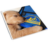 College Spiral Notebook w/Clear Coil-Dog Sleeping