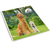 College Spiral Notebook w/Clear Coil-Big Dog with Puppy
