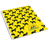 College Spiral Notebook w/Clear Coil-Dog Pattern