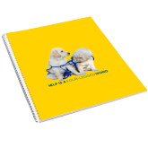 College Spiral Notebook w/Clear Coil-Help is a Four Legged Word