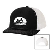 Richardson Black/White Trucker Hat-