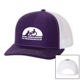 Richardson Purple/White Trucker Hat-
