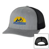 Richardson Heather Grey/Black Trucker Hat-