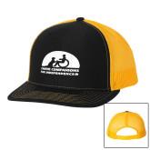 Richardson Black/Gold Trucker Hat-