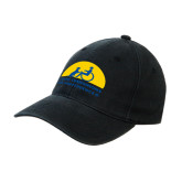 Black OttoFlex Unstructured Low Profile Hat-