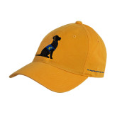 Gold Twill Unstructured Low Profile Hat-Dog
