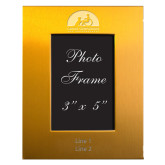 Gold Brushed Aluminum 3 x 5 Photo Frame-Engraved, Personalized