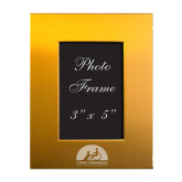 Gold Brushed Aluminum 3 x 5 Photo Frame-Engraved