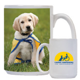 Full Color White Mug 15oz-Gold Puppy