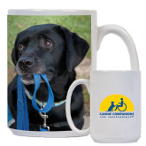 Full Color White Mug 15oz-Dog with Leash