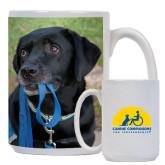 Full Color White Mug 15oz-Dog with Leash