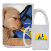 Full Color White Mug 15oz-Dog Sleeping