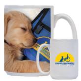 Full Color White Mug 15oz-Dog Sleeping
