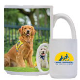 Full Color White Mug 15oz-Big Dog with Puppy
