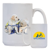 Full Color White Mug 15oz-Two Puppies