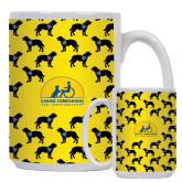 Full Color White Mug 15oz-Dog Pattern