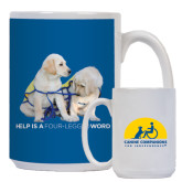 Full Color White Mug 15oz-Help is a Four Legged Word