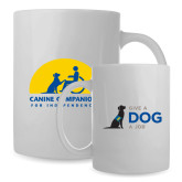Full Color White Mug 15oz-Give a Dog a Job