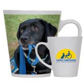 Full Color Latte Mug 12oz-Dog with Leash