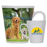 Full Color Latte Mug 12oz-Big Dog with Puppy