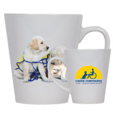12oz Ceramic Latte Mug-Two Puppies