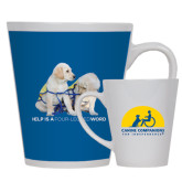 Full Color Latte Mug 12oz-Help is a Four Legged Word
