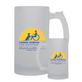 Full Color Decorative Frosted Glass Mug 16oz-Kinkeade Campus
