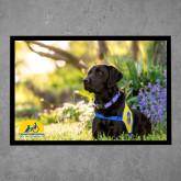 Full Color Indoor Floor Mat-Black Dog on Grass