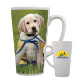 Full Color Latte Mug 17oz-Gold Puppy