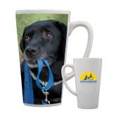 Full Color Latte Mug 17oz-Dog with Leash