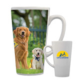 Full Color Latte Mug 17oz-Big Dog with Puppy
