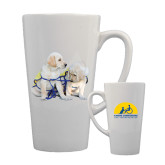 Full Color Latte Mug 17oz-Two Puppies