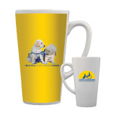 Full Color Latte Mug 17oz-Help is a Four Legged Word
