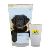 Full Color Glass 17oz-Dog on Fence