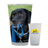 Full Color Glass 17oz-Dog with Leash