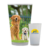 Full Color Glass 17oz-Big Dog with Puppy