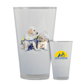 Full Color Glass 17oz-Two Puppies