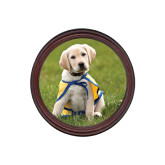 Round Coaster Frame w/Insert-Gold Puppy