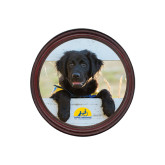 Round Coaster Frame w/Insert-Dog on Fence