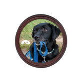 Round Coaster Frame w/Insert-Dog with Leash