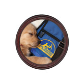Round Coaster Frame w/Insert-Dog Sleeping