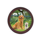 Round Coaster Frame w/Insert-Big Dog with Puppy