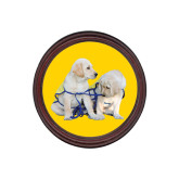 Round Coaster Frame w/Insert-Two Puppies