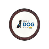 Round Coaster Frame w/Insert-Give a Dog a Job
