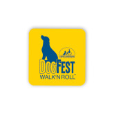 Hardboard Coaster w/Cork Backing-Dog Fest Tall