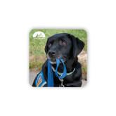 Hardboard Coaster w/Cork Backing-Dog with Leash